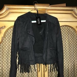 Adorable chic fringe thick jacket